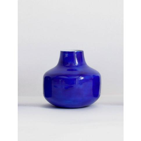 Bohemia Design | Cobalt Enamel Bud Vases (Slight Sec...