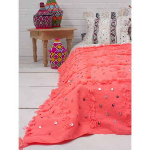Bohemia Design | Handira Blanket, Coral