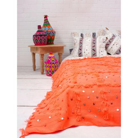Bohemia Design | Handira Blanket, Orange
