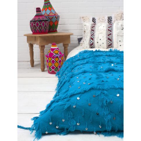 Bohemia Design | Handira Blanket, Turquoise