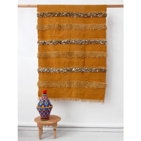 Bohemia Design | Moroccan Handira Blanket, Ochre