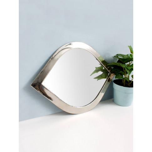 Bohemia Design | Moroccan Eye Mirror, White Brass