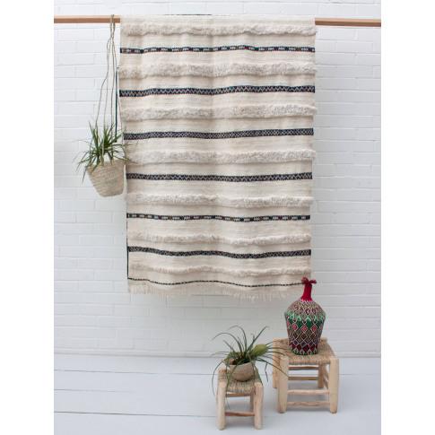 Bohemia Design | Vintage Moroccan Handira Blanket No...