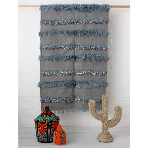 Bohemia Design   Moroccan Handira Blanket No. 132