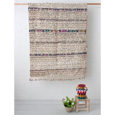 Bohemia Design | Vintage Moroccan Handira Blanket No. 139
