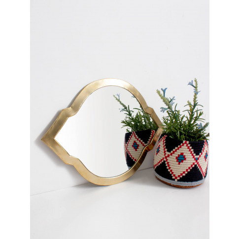 Bohemia Design | Moroccan Oval Tile Mirror, Brass