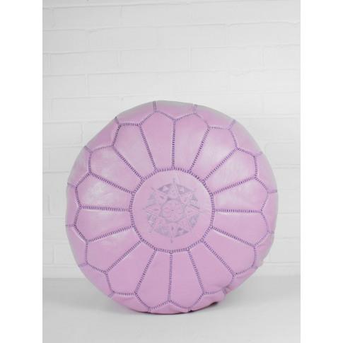 Bohemia Design | Moroccan Leather Pouffe, Vintage Pink