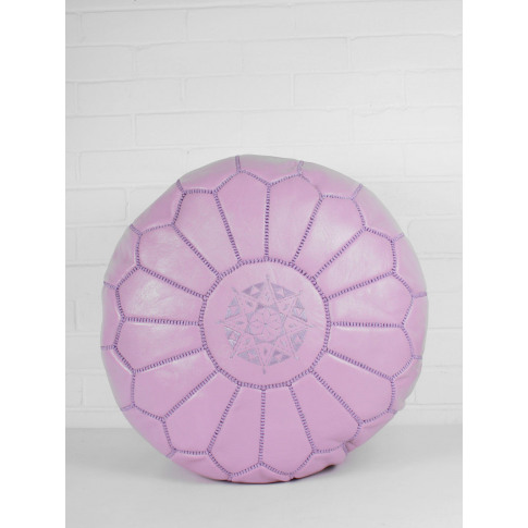 Bohemia Design | Moroccan Leather Pouffe, Vintage Pink