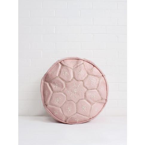 Bohemia Design | Moroccan Leather Tile Pouffe, Soft ...