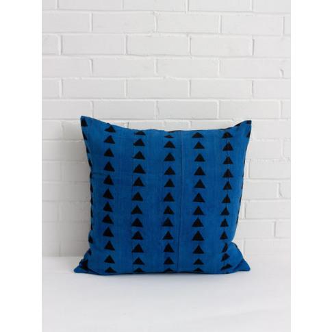 Bohemia Design | Mudcloth Cushions, Blue Triangle