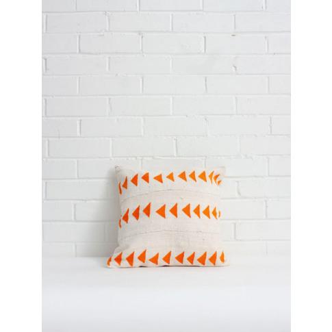 Bohemia Design | Mudcloth Cushions, Orange Triangle