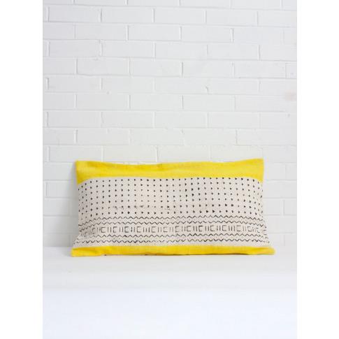 Bohemia Design | Mudcloth Cushions, Yellow Stripe