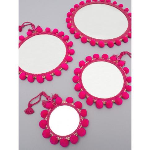 Bohemia Design | Pom Pom Mirrors, Pink