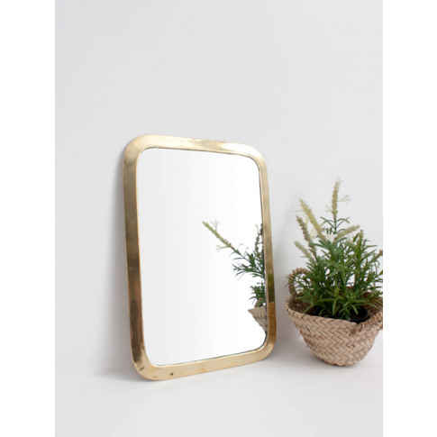 Bohemia Design | Moroccan Rounded Rectangle Mirror, Brass