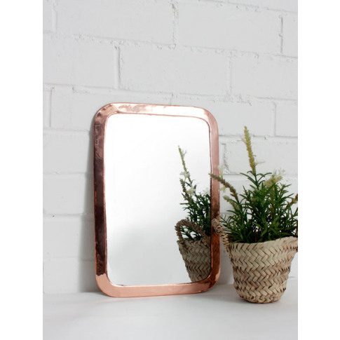 Bohemia Design | Moroccan Rounded Rectangle Mirror, Rose