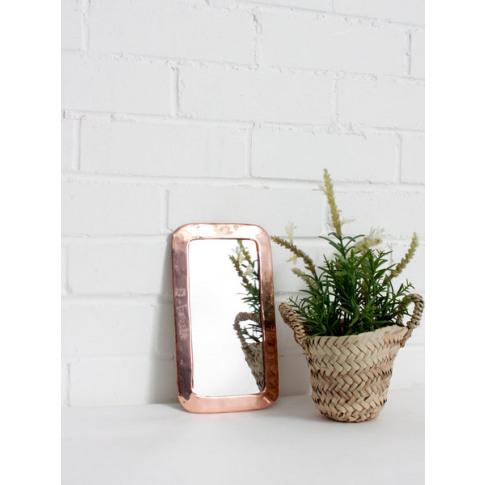 Bohemia Design | Moroccan Rounded Rectangle Mirror, Rose