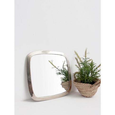 Bohemia Design | Moroccan Rounded Square Mirror, White Brass