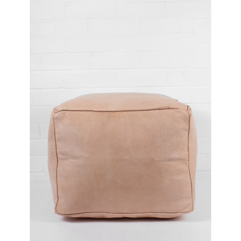 Bohemia Design | Moroccan Leather Plain Square Pouff...