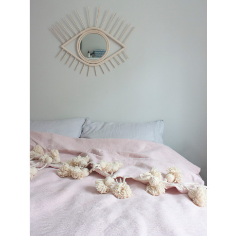 Bohemia Design | Super Tassel Blanket, Powder Pink