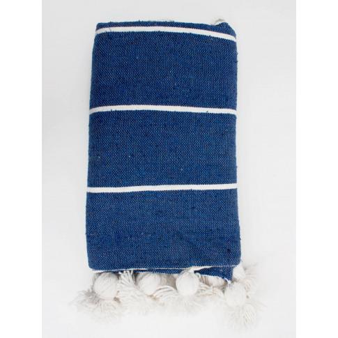 Bohemia Design | Tassel Pom Pom Blanket, Indigo