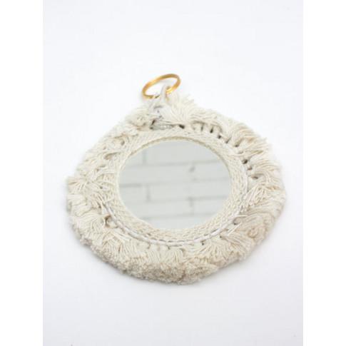 Bohemia Design | Tassel Mini Mirrors , Cream