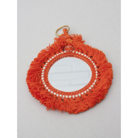 Bohemia Design | Tassel Mini Mirrors , Orange