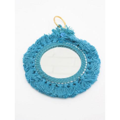 Bohemia Design | Tassel Mini Mirrors , Turquoise