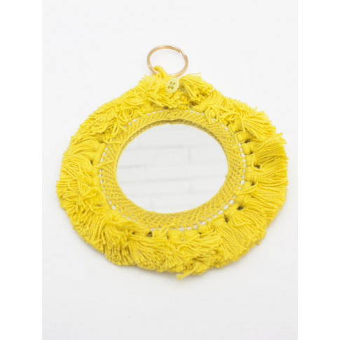 Bohemia Design | Tassel Mini Mirrors , Yellow