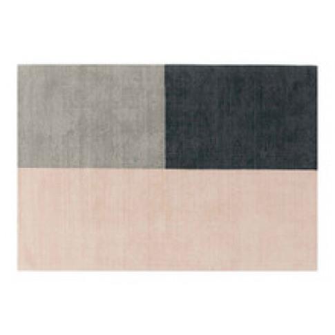 Brook + Wilde Luxury Hand Woven Wool Trinity Pink Rug