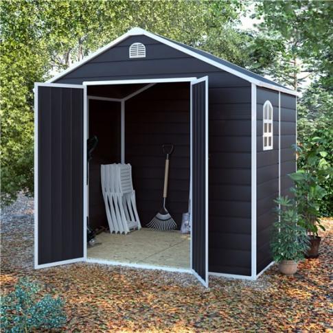 8x6 Ashford Plastic Garden Storage Shed - Billyoh