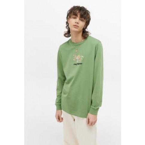 Lazy Oaf Flower Vase Green Long-Sleeve T-Shirt - Gre...