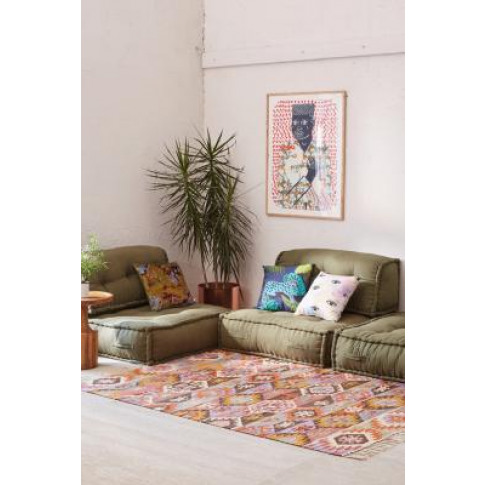Reema Floor Cushion - Green All At Urban Outfitters