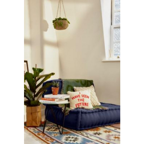 Reema Convertible Navy Floor Cushion - Blue At Urban...