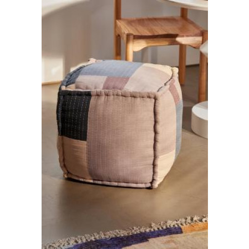 Patchwork Square Floor Pouf - Blue All At Urban Outf...