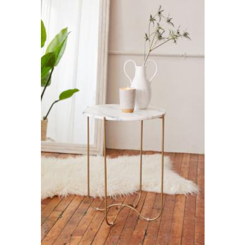 Annette Side Table - Gold All At Urban Outfitters