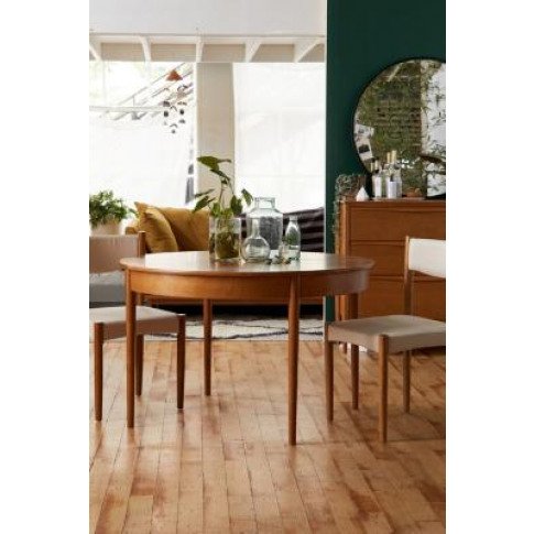Huxley Round Dining Table - Brown At Urban Outfitters