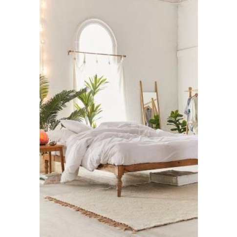 Boho Double Bed - Beige All At Urban Outfitters