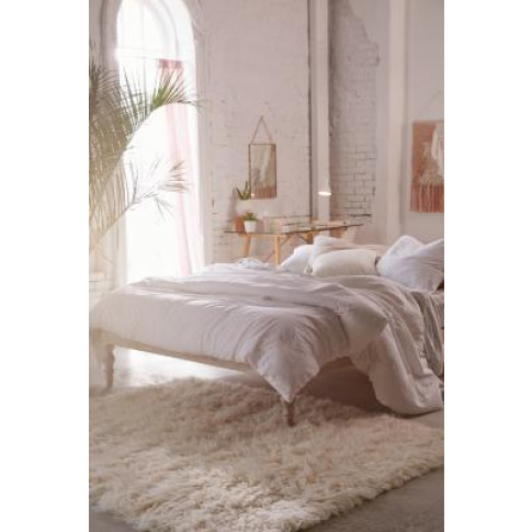 Boho King Bed - White All At Urban Outfitters