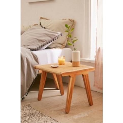 Petra Rattan Side Table - Beige All At Urban Outfitters
