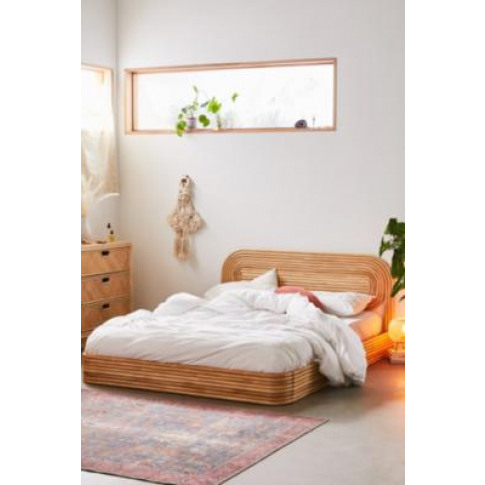 Ria Rattan Bed - Tan At Urban Outfitters