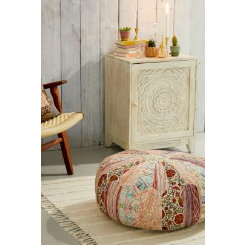 Snuggler Round Patchwork Pouf - Assorted All At Urba...