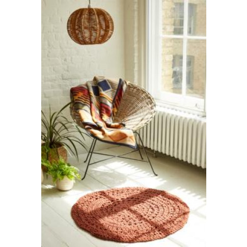 Crochet Round Red Rug - Red At Urban Outfitters