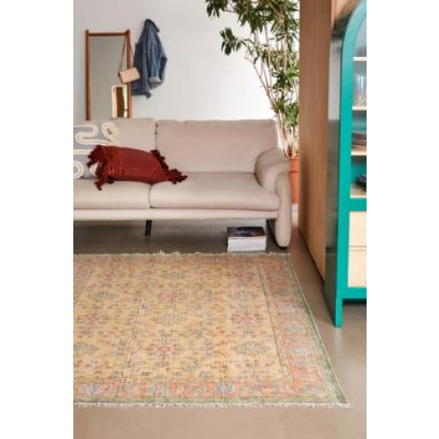 Silas Yellow Floral 5x7 Rug - Yellow All At Urban Ou...