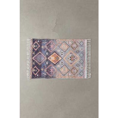 Anisah Printed Chenille 2x3 Rug - Blue All At Urban ...