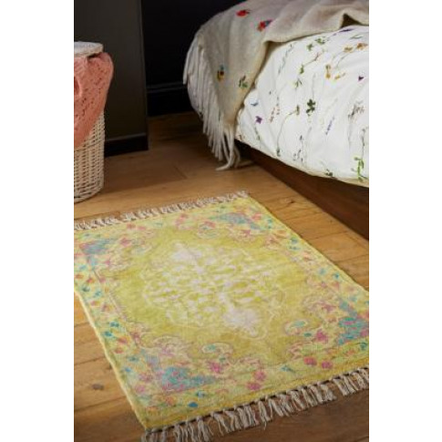 Milo 2x3 Printed Chenille Rug - Yellow At Urban Outf...