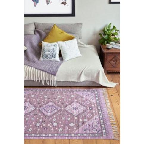 Bandana Print 3x5 Rug - Purple At Urban Outfitters