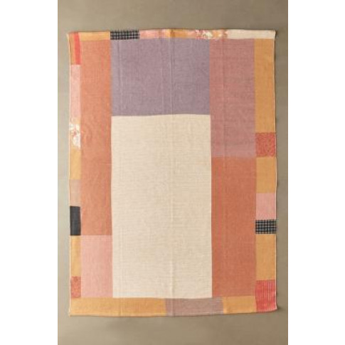 Monroe Peach Patch Printed 5x7 Rug - Pink All At Urban Outfitters