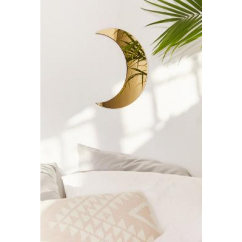 Crescent Moon Mirror - Gold All At Urban Outfitters