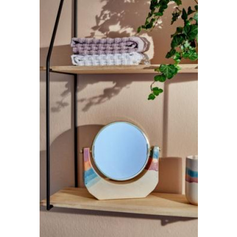 Soft Stripe Tabletop Mirror - Assorted All At Urban ...