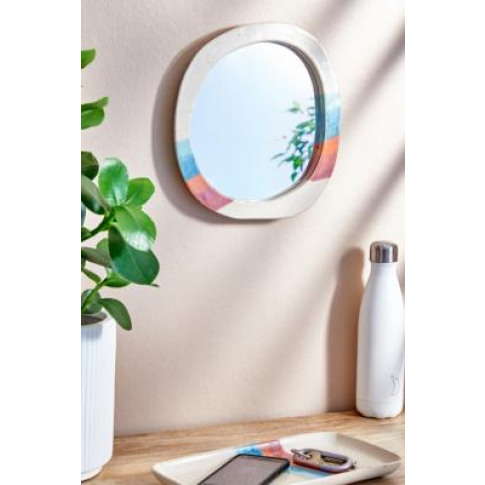 Soft Stripe Wall Mirror - Assorted All At Urban Outf...